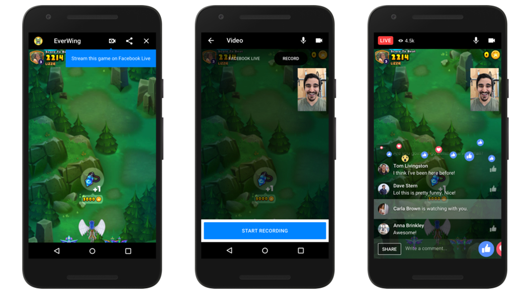 messenger, Facebook, Facebook messenger, giochi, giochi live, giochi streaming