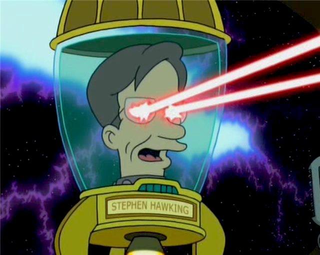 Stephen Hawking in Futurama