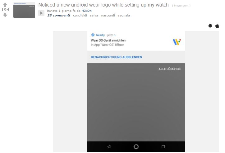 Android Wear sta per diventare Wear OS?