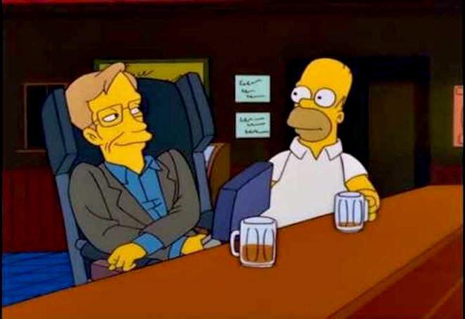 Stephen Hawking in un episodio dei Simpson