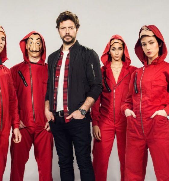 La casa di carta il cast della serie a roma per un for La casa di carta 2 episodi
