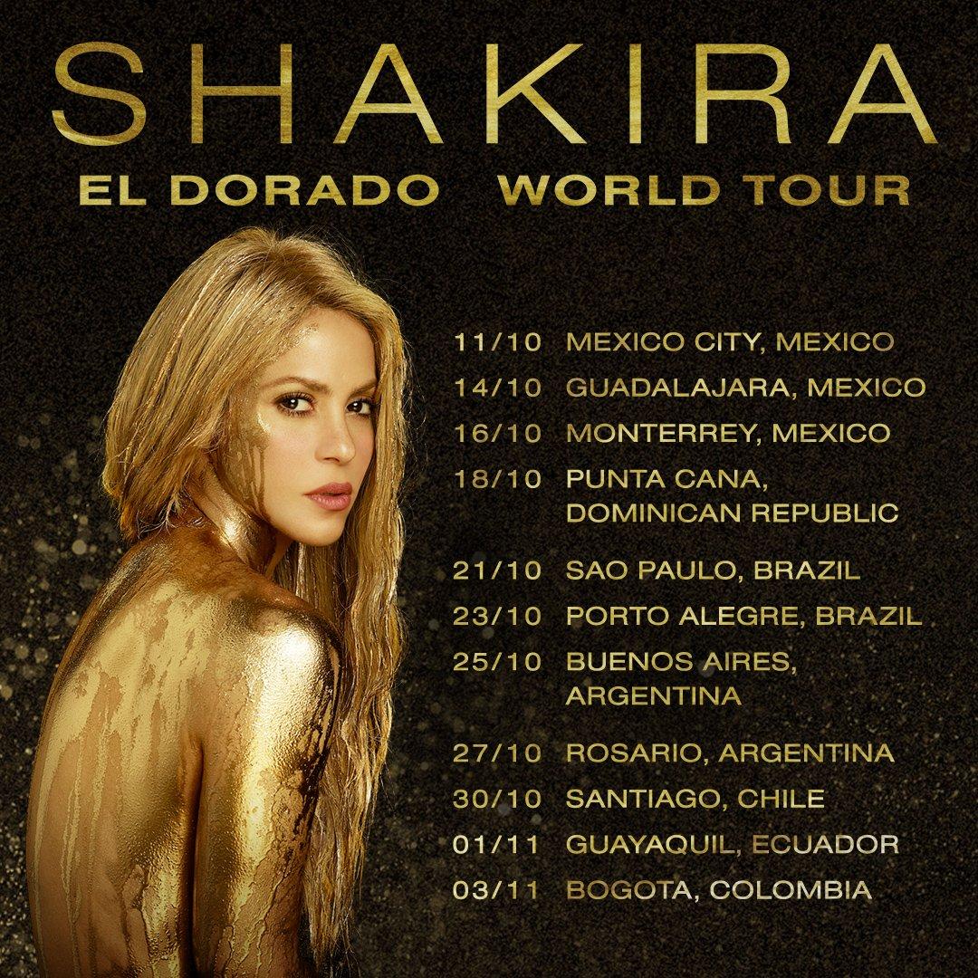 Shakira: Il suo ritorno in Messico dopo sette anni, con 'El Dorado'