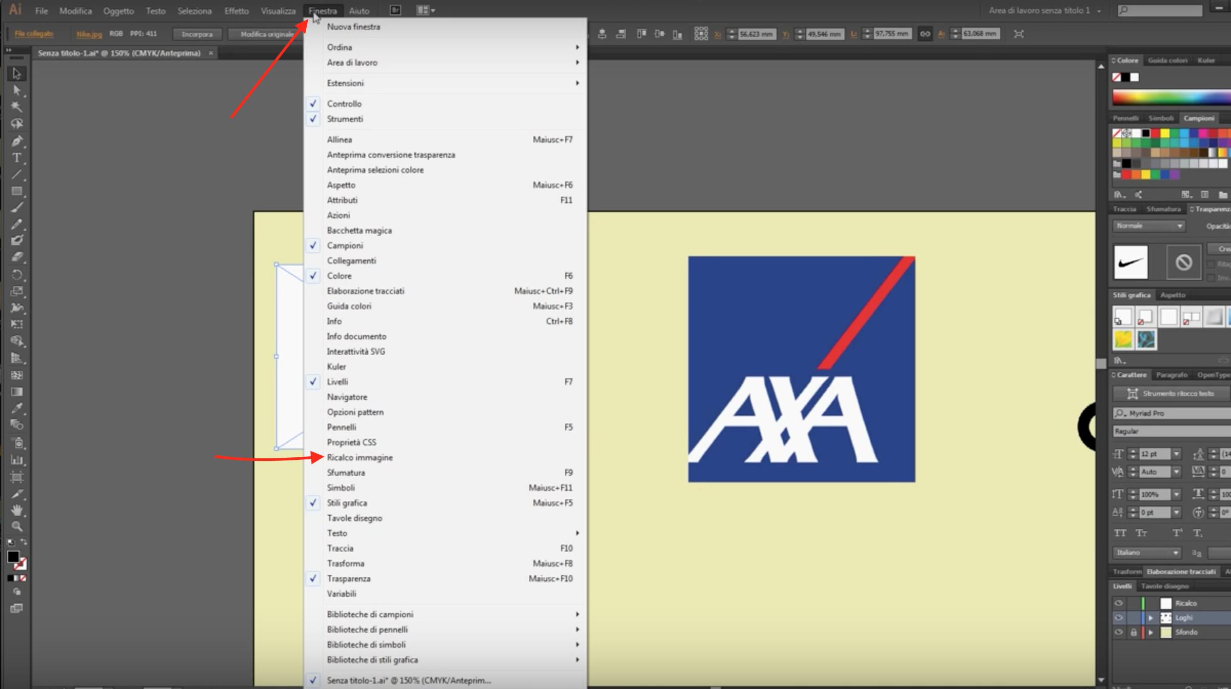 Vettorializzare un logo