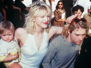 Kurt Cobain , Courtney Love e una piccola Frances Bean
