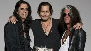 Johnny Depp, Alice Cooper e Joe Perry