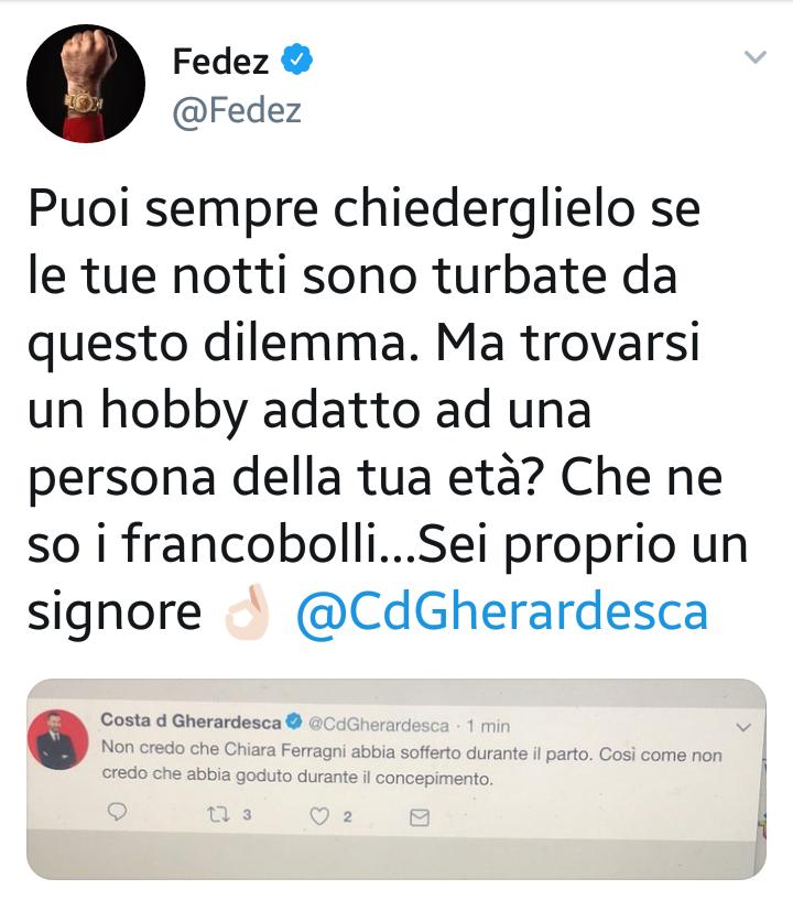Costantino Della Gherardesca e Fedez