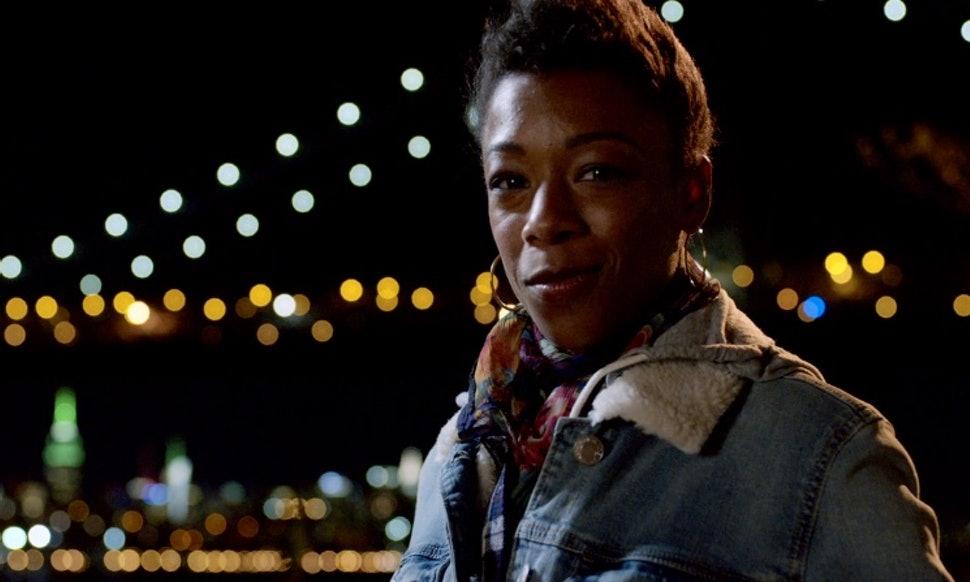 Poussey nella sua scena finale di Orange is the new black
