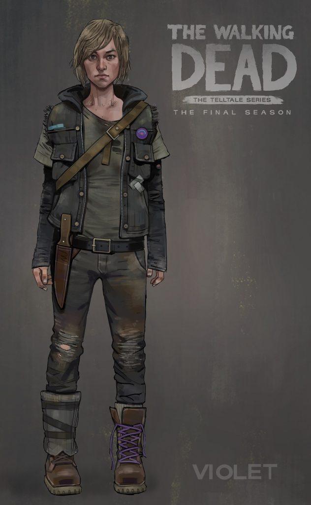 the Walking Dead The Final Season violet