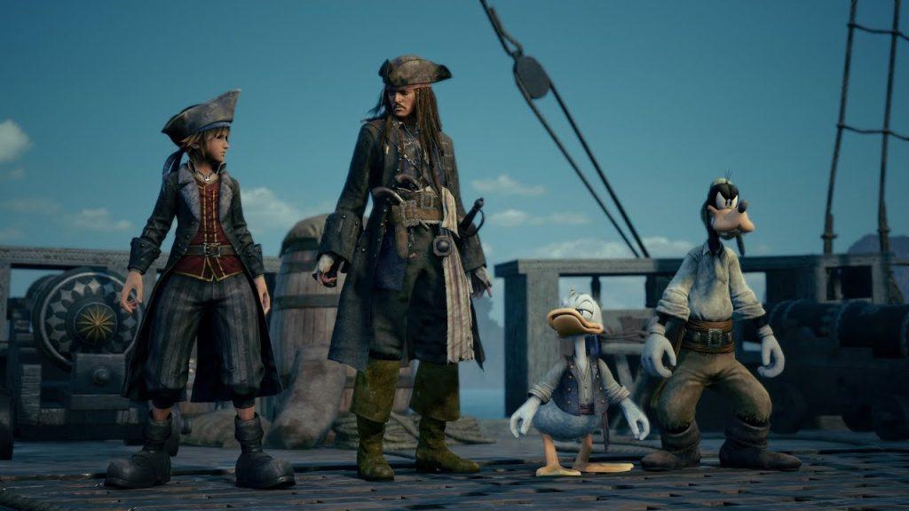 kingdom hearts 3 pirati dei caraibi
