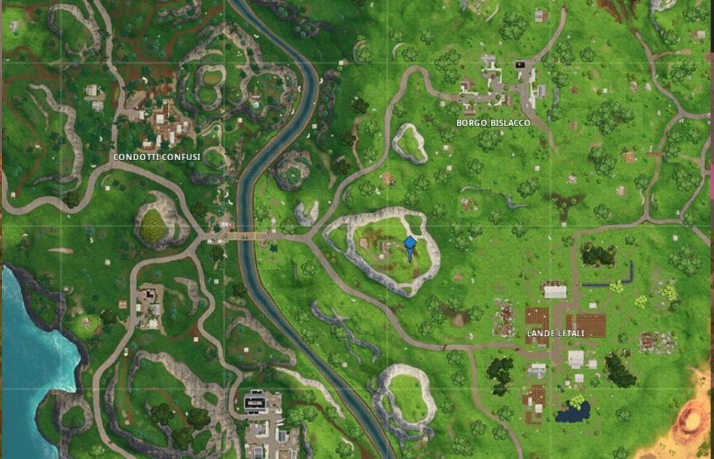 segui la mappa del tesoro trovata a laboratorio della latrina