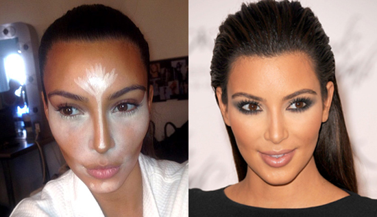Kim Kardashian contouring make up