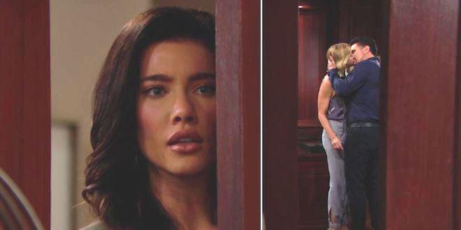 Beautiful - Steffy vede il bacio di Bill e Brooke