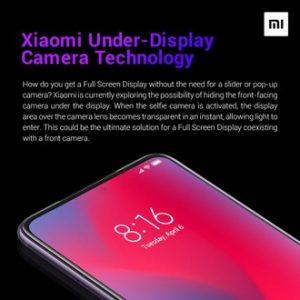 Xiaomi fotocamera sotto display