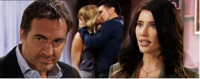 Beautiful:Brooke Logan e Bill Spencer si baciano, Steffy Forrester vede tutto
