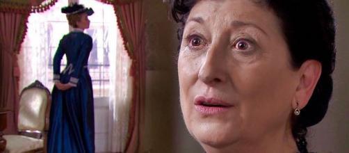 Una Vita - La vecchia istitutrice ferisce Genoveva scambiandola per Cayetana