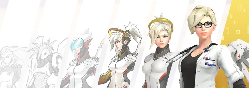 L'evoluzione del design di Mercy, uno degli healer più famosi di Overwatch
