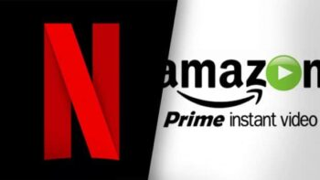 Loghi di Netflix e Amazon Prime