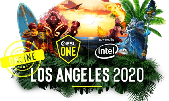 L'art con cui ESL One ha annunciato lo svolgimento online del torneo