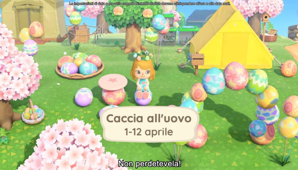 animal crossing caccia all'uovo