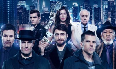 Daniel Radcliffe, Woody Harelson, Jesse Eisenberg in Now You See Me, Gogo Magazine