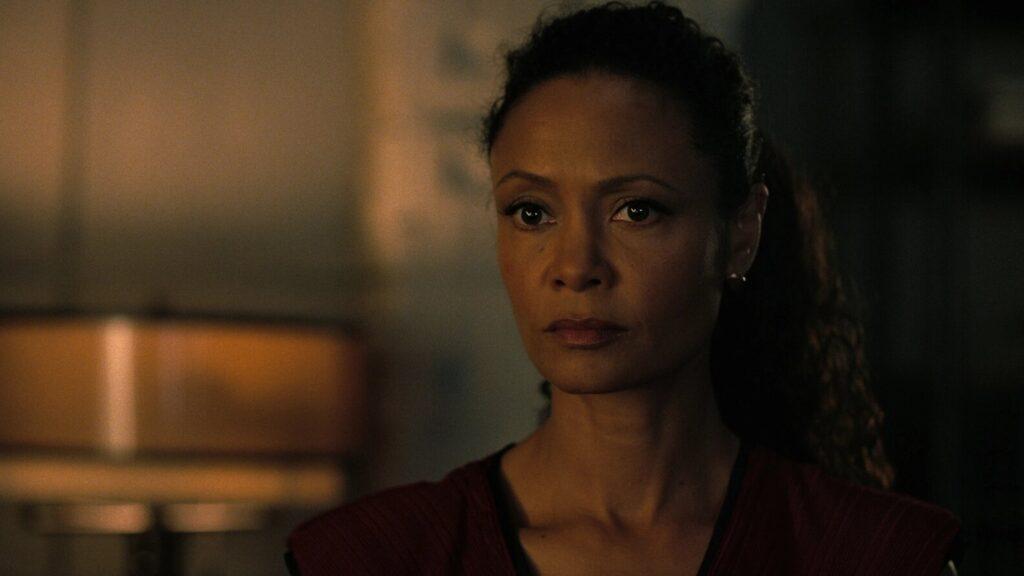 Thandie Newton è Maeve Millay in Westworld 3x04, HBO, Gogo Magazine