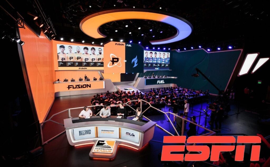 Un broadcast ESPN della Overwatch League