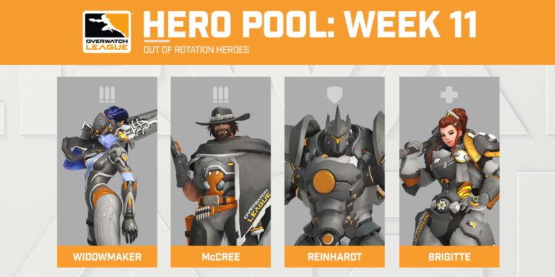 La Hero Pool di Overwatch della settimana: Reinhardt, Brigitte, McCree e Widowmaker