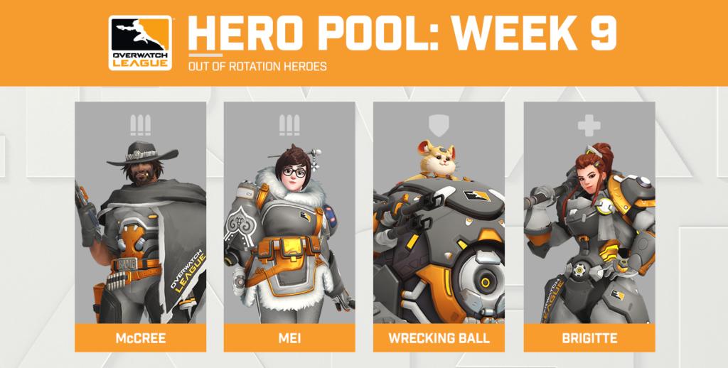 I 4 eroi scelti nell'Hero Pool della Week 9 della Overwatch League