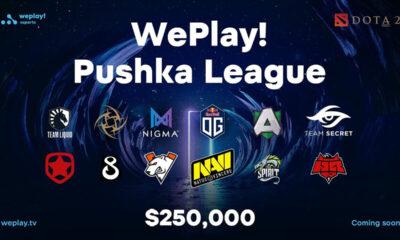 Il banner della Pushka League, nuovo torneo online di Dota 2 organizzato dalla WePlay!