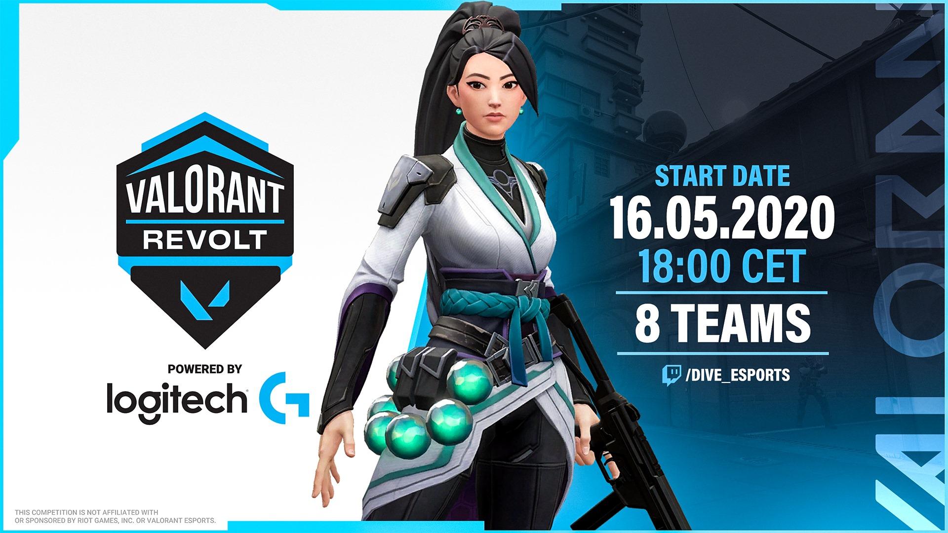 La locandina di Valorant Report, torneo organizzato da Dive Esports e sponsorizzato Logitech