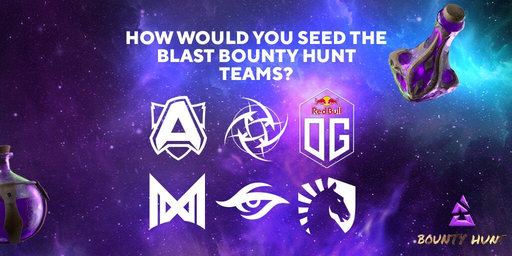 I team pronti a scendere in campo nel BLAST Bounty Hunt di Dota 2