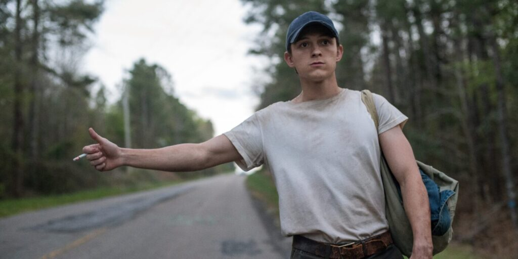Tom Holland nel film Netflix Le strade del male, Gogo Magazine
