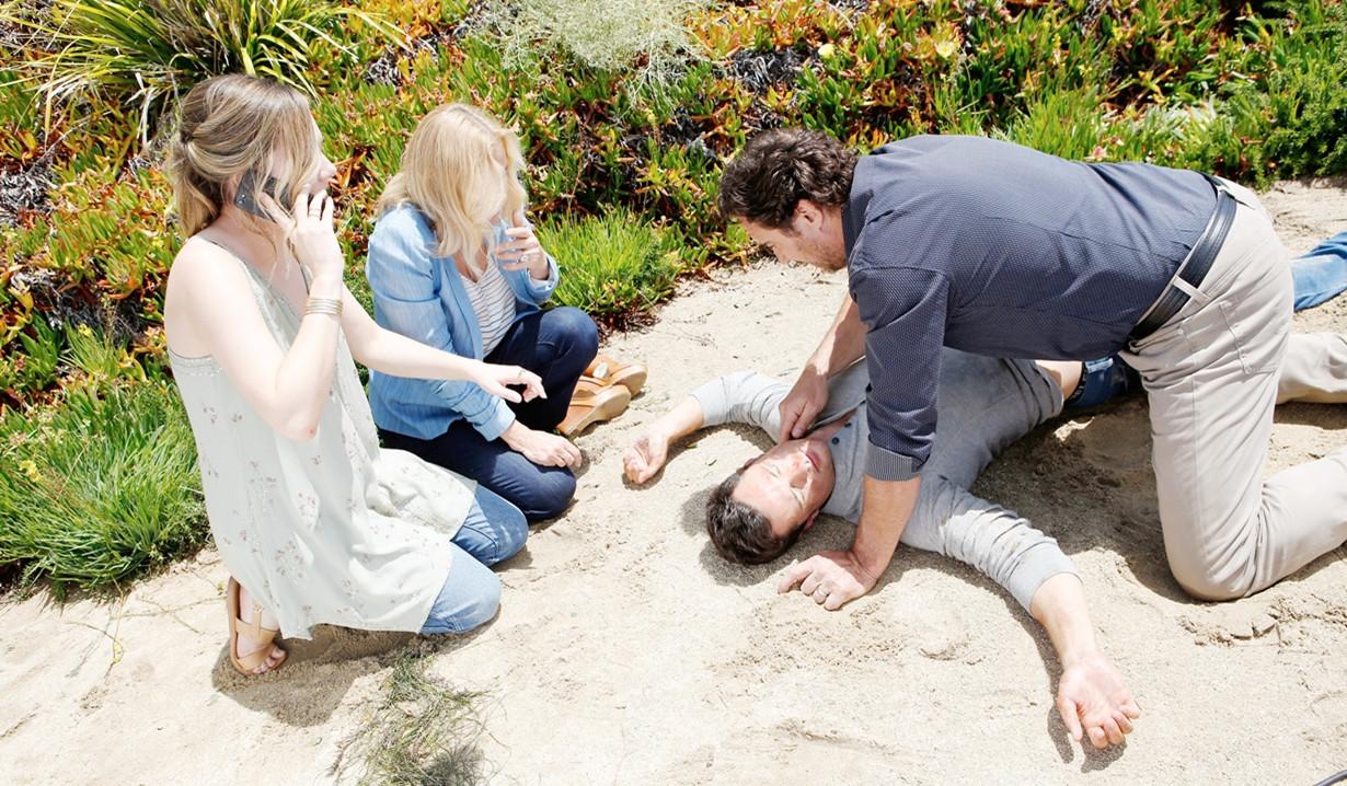 Beautiful, puntate 25-31 ottobre: Brooke spinge Thomas che cade giù dalla scogliera