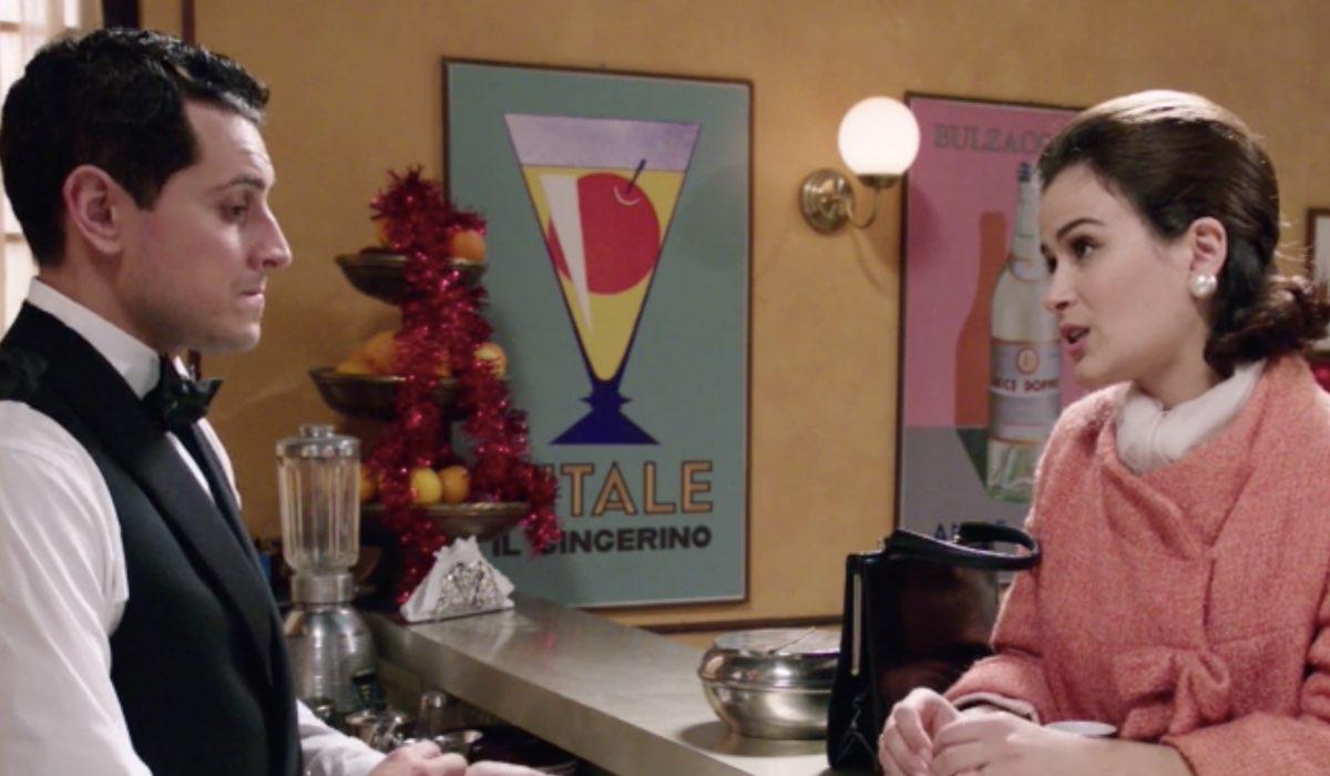 Il Paradiso delle signore - Gabriella e l'ex fidanzato travolti dalla passione in caffetteria