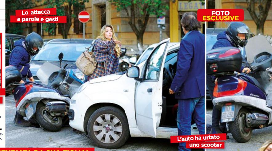 Grande Fratello Vip - Padre e figlia Goria, lite in strada dopo lo scontro