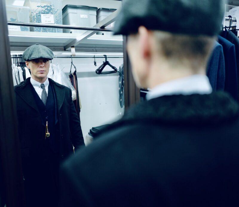 Peaky Blinders 6 Cillian Murphy foto backstage